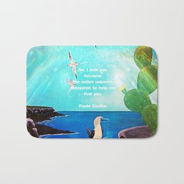 I LOVE YOU Inspirational Quote Bath Mat