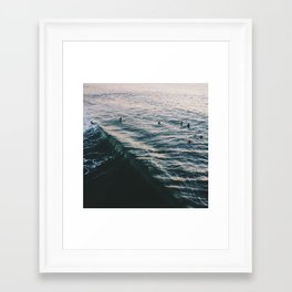 Searching the Surf Framed Art Print