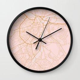 Sheffield map, England Wall Clock