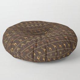 Giraffe & Okapi Print Pattern ~ EARTHY GOLDS PALETTE Floor Pillow