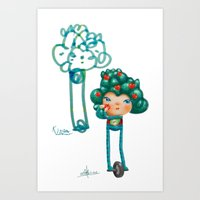 Tree Buddy - Father & Son Art Print