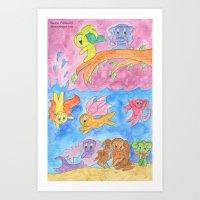 Ocean Party Art Print