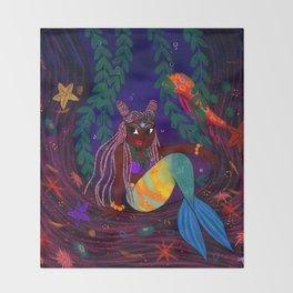 Tropical Mermadia Throw Blanket