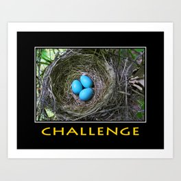 Inspirational Challenge Art Print