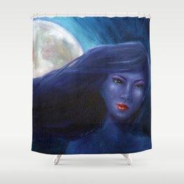 Purple Woman Shower Curtain