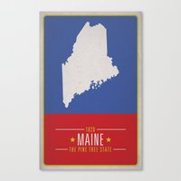 maine Canvas Prints featuring MAINE by Matthew Justin Rupp