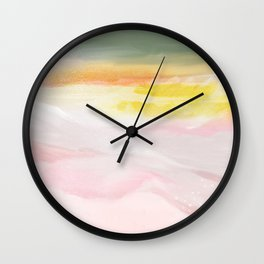 pink soda mountains Wall Clock