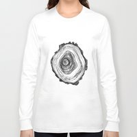 tree rings Long Sleeve T-shirts featuring Tree Rings - Light by Emily Swedberg (Ito Inez)