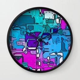 Abstract Segmented 1 Wall Clock