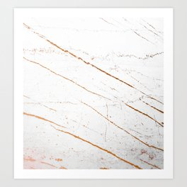 Rose Gold Marble #society6 #decor #buyart Art Print