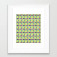 suits Framed Art Prints featuring Suits by M. Noelle Studios
