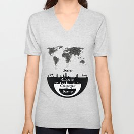See, Care, Change, Save Our Earth Unisex V-Neck