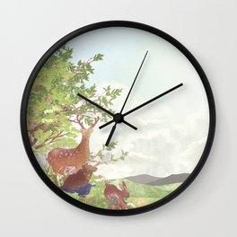 After the sudden shower | Moharu Shirahata Wall Clock