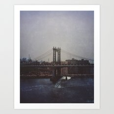 Manhattan Bridge of Whales Art Print