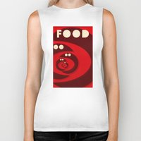 food Biker Tanks featuring Food by justasign