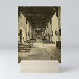 Charles Frederick Holder - All About Pasadena (1889) - Interior of the San Gabriel Mission Mini Art Print