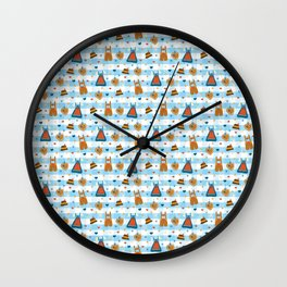 Time for Oktoberfest Traditional dirndl dresses and leather pants. Wall Clock