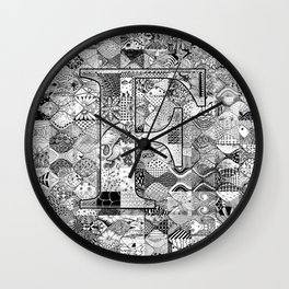 The Letter F Wall Clock