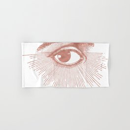 I see you. Rose Gold Pink Quartz on White Hand & Bath Towel