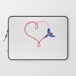 Heart Parrot Ara Love Trajectory Gift Laptop Sleeve