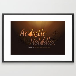 Acoustic Melodies Framed Art Print