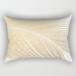 Palm leaf - gold Rectangular Pillow