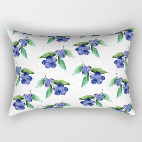 Blueberries Stripes Rectangular Pillow