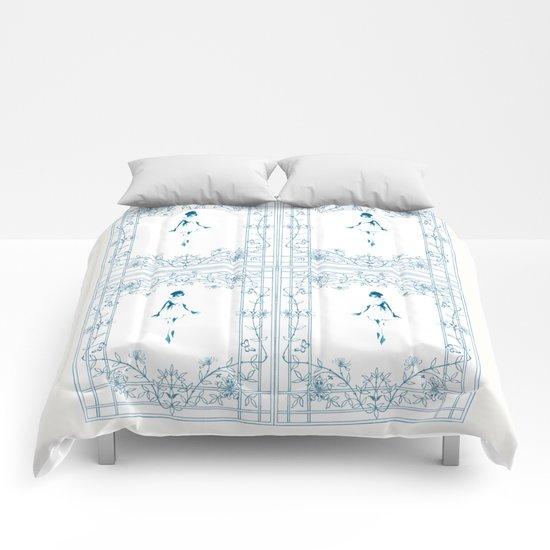 Blue dancer Comforters