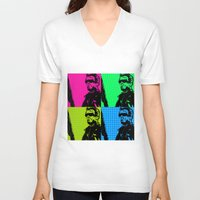 terminator V-neck T-shirts featuring Terminator by Bolin Cradley Art