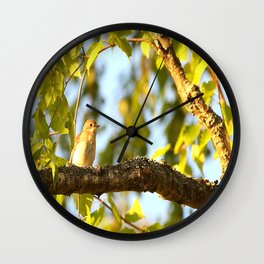 Songbird Singing On The Branch  #decor #society6 Wall Clock