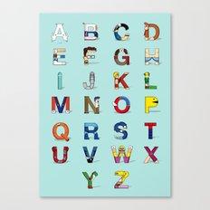 VGC alphabet Canvas Print