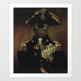 Pug Sea Captain Portrait Painting | Dog Lovers! Art Print