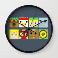 zelda Wall Clocks featuring ZELDA GAME by pipocaVFX