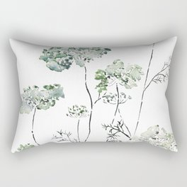 abstract queen ann's lace green Rectangular Pillow