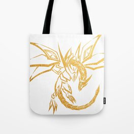 Dragon Skeleton Gold Geometric Art Tote Bag