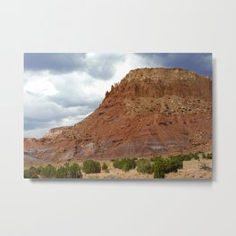 Buttes of New Mexico - On the Road to Santa Fe, No. 1 Metal Print
