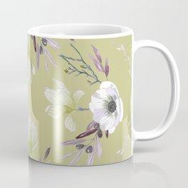 Floral Square Yellow Coffee Mug