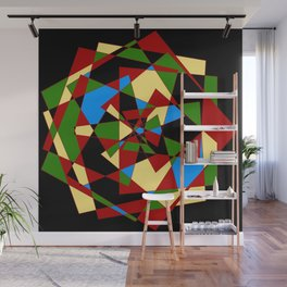 Shattered Multi-Color Geometric Wall Mural