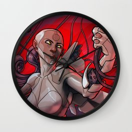 Cyborg girl Wall Clock