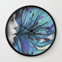 mouth Wall Clocks featuring Mouth by Mighty Truth