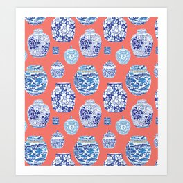 Chinoiserie Ginger Jar Collection No.4 Art Print