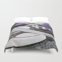 converse Duvet Covers featuring Converse by Leslie Creveling