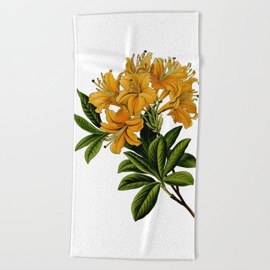 Herbal Flowers Beach Towel