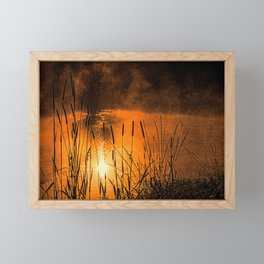Sunrise at the lake /Sonnenaufgang am See Framed Mini Art Print