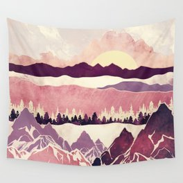 Burgundy Hills Wall Tapestry