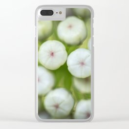 Wht-flowered Milkweed Clear iPhone Case