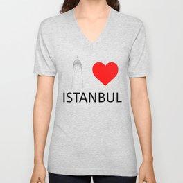 I Love Istanbul Unisex V-Neck