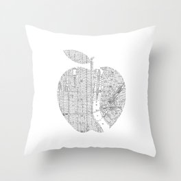 New York City big apple Poster black and white I Heart I Love NYC home decor bedroom wall art Throw Pillow