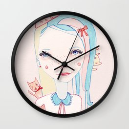 Merry Catmas Wall Clock