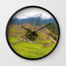 Machu Picchu Wall Clock